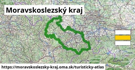 ikona Moravskoslezský kraj: 2108km trás turisticky-atlas  moravskoslezsky-kraj