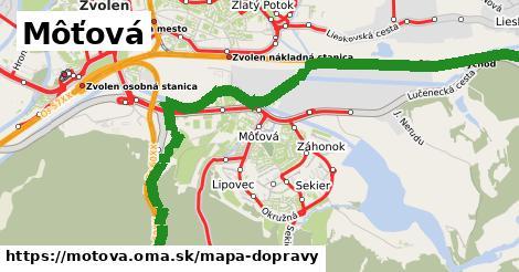 ikona Môťová: 51km trás mapa-dopravy  motova