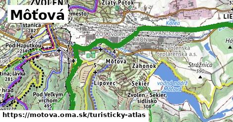 ikona Turistická mapa turisticky-atlas  motova