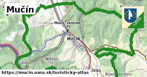 ikona Mučín: 3,4km trás turisticky-atlas  mucin
