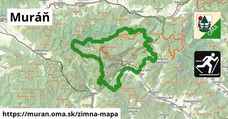 ikona Muráň: 18km trás zimna-mapa  muran