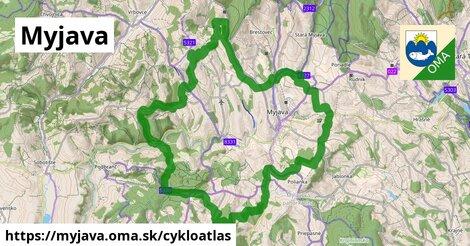 ikona Myjava: 24km trás cykloatlas  myjava