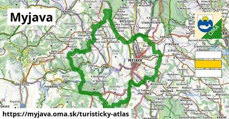 ikona Myjava: 41km trás turisticky-atlas  myjava
