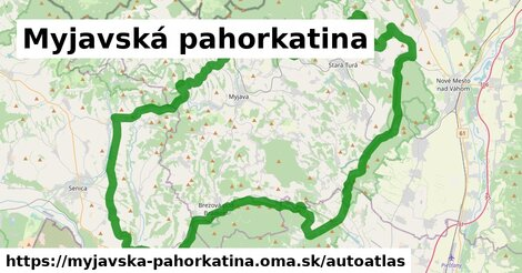 ikona Mapa autoatlas  myjavska-pahorkatina