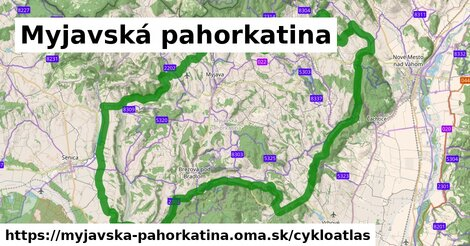 ikona Myjavská pahorkatina: 166km trás cykloatlas  myjavska-pahorkatina