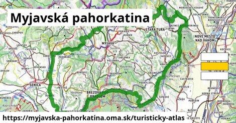 ikona Myjavská pahorkatina: 253km trás turisticky-atlas  myjavska-pahorkatina