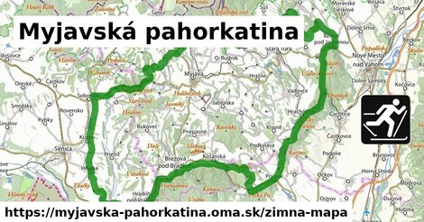 ikona Myjavská pahorkatina: 8,7km trás zimna-mapa  myjavska-pahorkatina