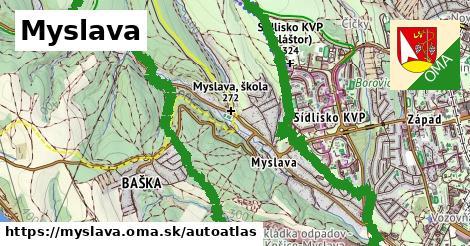 ikona Mapa autoatlas  myslava