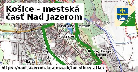 ikona Košice - mestská časť Nad Jazerom: 3,5km trás turisticky-atlas  nad-jazerom.ke