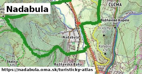 ikona Nadabula: 4,2km trás turisticky-atlas v nadabula