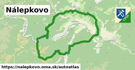 ikona Mapa autoatlas  nalepkovo
