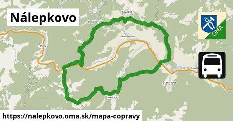 ikona Nálepkovo: 16km trás mapa-dopravy  nalepkovo