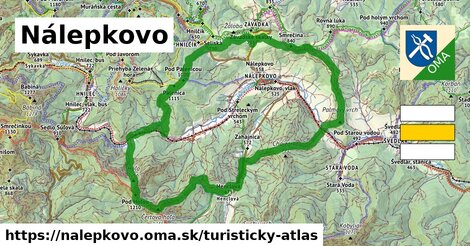 ikona Turistická mapa turisticky-atlas  nalepkovo