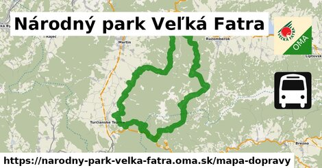 ikona Mapa dopravy mapa-dopravy  narodny-park-velka-fatra
