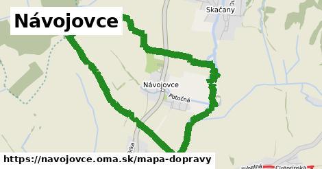 ikona Návojovce: 0m trás mapa-dopravy  navojovce