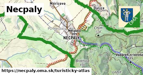 ikona Turistická mapa turisticky-atlas  necpaly