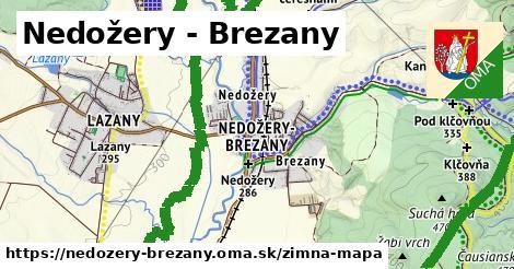 ikona Nedožery - Brezany: 2,5km trás zimna-mapa  nedozery-brezany