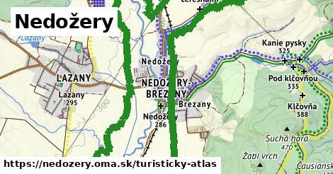 ikona Nedožery: 9,2km trás turisticky-atlas  nedozery