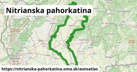 ikona Mapa autoatlas  nitrianska-pahorkatina