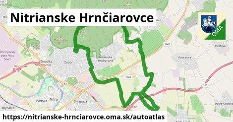 ikona Mapa autoatlas  nitrianske-hrnciarovce