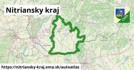 ikona Mapa autoatlas  nitriansky-kraj