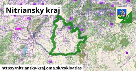 ikona Nitriansky kraj: 1769km trás cykloatlas  nitriansky-kraj
