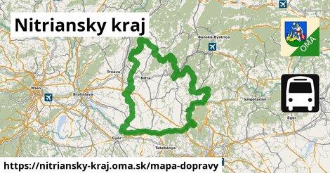 ikona Nitriansky kraj: 1160km trás mapa-dopravy  nitriansky-kraj