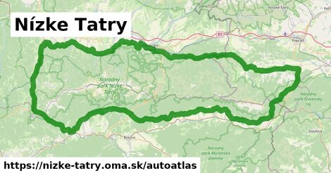 ikona Mapa autoatlas  nizke-tatry