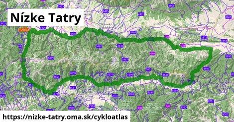 ikona Nízke Tatry: 287km trás cykloatlas  nizke-tatry