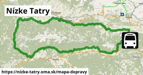 ikona Nízke Tatry: 18km trás mapa-dopravy  nizke-tatry