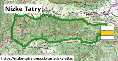 ikona Nízke Tatry: 829km trás turisticky-atlas  nizke-tatry