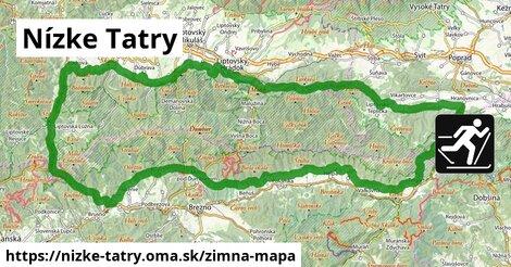 ikona Nízke Tatry: 20km trás zimna-mapa  nizke-tatry