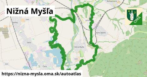 ikona Mapa autoatlas v nizna-mysla