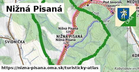 ikona Turistická mapa turisticky-atlas  nizna-pisana