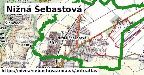 ikona Mapa autoatlas  nizna-sebastova
