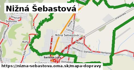 ikona Mapa dopravy mapa-dopravy v nizna-sebastova