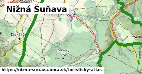 ikona Nižná Šuňava: 4,5km trás turisticky-atlas  nizna-sunava