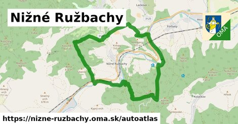 ikona Mapa autoatlas  nizne-ruzbachy