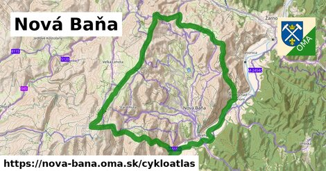 ikona Nová Baňa: 83km trás cykloatlas  nova-bana