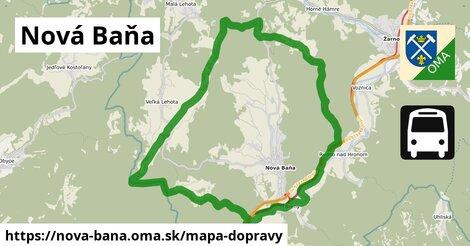ikona Nová Baňa: 35km trás mapa-dopravy v nova-bana
