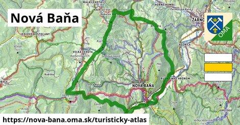 ikona Nová Baňa: 33km trás turisticky-atlas  nova-bana