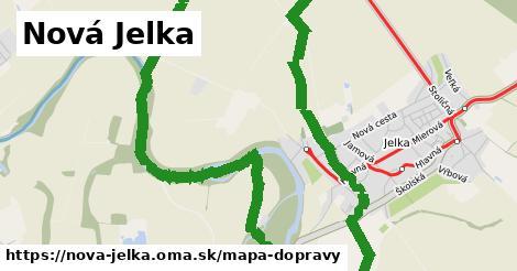 ikona Nová Jelka: 1,32km trás mapa-dopravy  nova-jelka