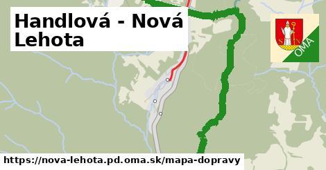 ikona Handlová - Nová Lehota: 1,37km trás mapa-dopravy  nova-lehota.pd