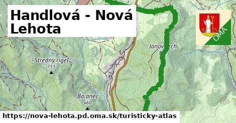 ikona Handlová - Nová Lehota: 10,3km trás turisticky-atlas  nova-lehota.pd