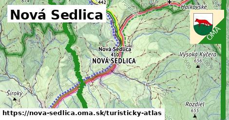 ikona Turistická mapa turisticky-atlas  nova-sedlica