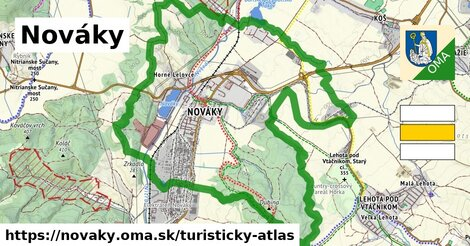 ikona Turistická mapa turisticky-atlas  novaky