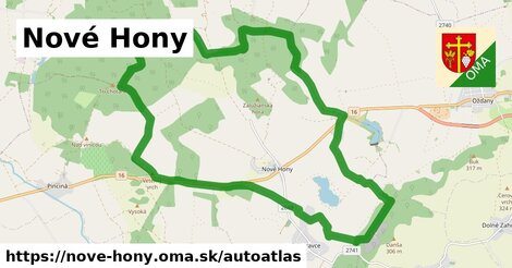 ikona Mapa autoatlas  nove-hony