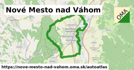 ikona Mapa autoatlas  nove-mesto-nad-vahom