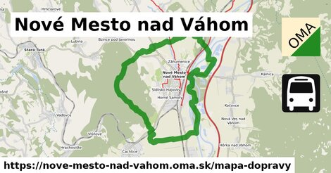 ikona Nové Mesto nad Váhom: 31km trás mapa-dopravy  nove-mesto-nad-vahom