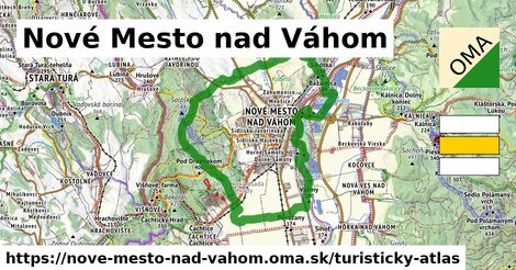 ikona Nové Mesto nad Váhom: 3,0km trás turisticky-atlas  nove-mesto-nad-vahom